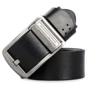 Hongmioo TB1729 Wholesale Zinc Alloy Buckle Full Grain Leather Men's Leisure Belt for Jean