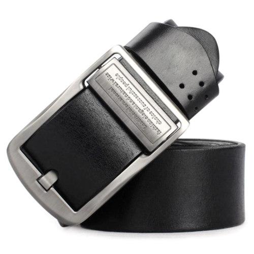 Hongmioo TB1729 Wholesale Zinc Alloy Buckle Full Grain Leather Men's Leisure Belt for Jean