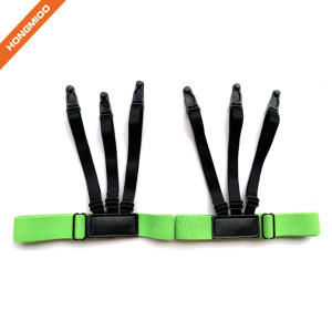 1 Pair Pure Green Thick Elastic High-End Sock Suspenders