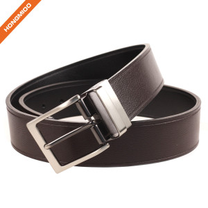 Hongmioo Men's Portfolio Reversible Patterned Belt Genuine Leather Waist Strap