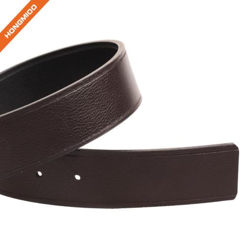 Hongmioo Men's Portfolio Reversible Patterned Belt Genuine Leather Waist Strap