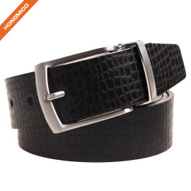 Men's Reversible Smooth Genuine Leather Dress Casual Belt Strap