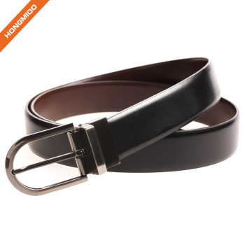 Mens Belt 100% Fine Leather Dress Belt Genuine Italian Leather Reversible Buckle Strap