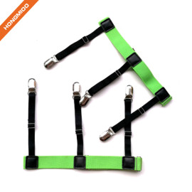Hongmioo TB1772 Multi Purpose Heavy Duty Green Color Sock Suspenders