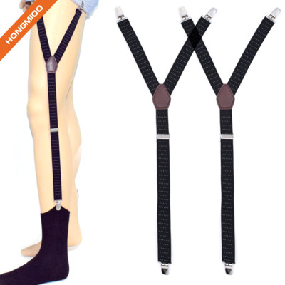 Hongmioo Shirt Stay For Men Police Military Garter Holder Sock Suspender Non-Slip Clips