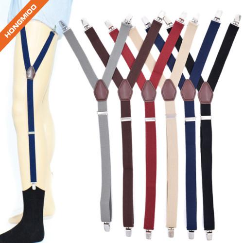 Hongmioo Shirt Stay For Men Police Military Garter Holder Sock Suspender Non-Slip Clips | Custom Belt