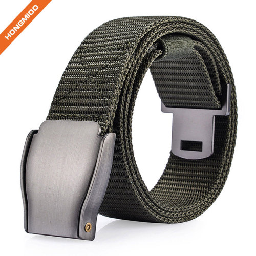 Hot Sale Nylon Woven Belts For Mens With Metal Buckle