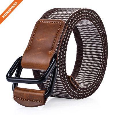 Top Sale Nylon Woven Elastic Leather Waist Belts For Men