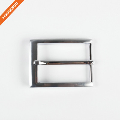 Blank Silver Plated Metal Alloy Pin Belt Buckle for Man