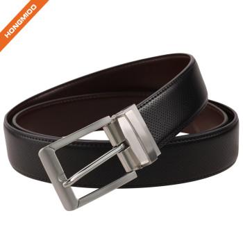 Hongmioo Reversible Belt Genuine Leather Waist Strap Adjustable Black Belts For Men