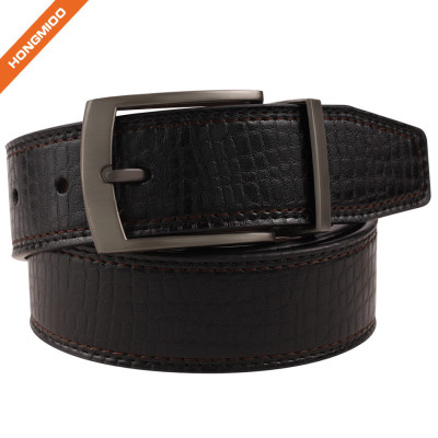 Boy's Western Design Genuine Leather Belt 35mm With Rotated Buckle