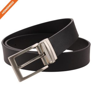 Men's 1.4'' Bridle Reversible Cow Skin Flat Belt With Customized Buckle