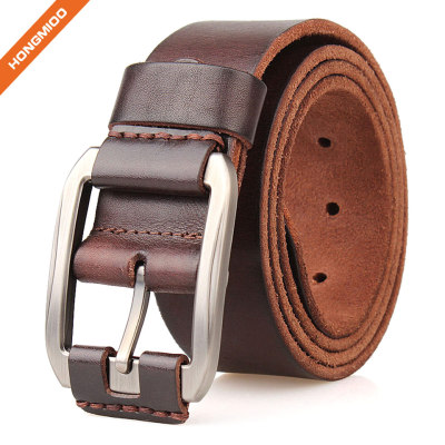 Colorful Designs Vegetable Tanned Leather Mens 1.5 Inch Top Grain Leather Belt