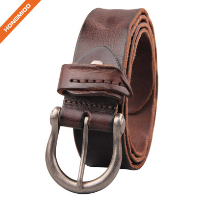 Middle Century Special Retro Design Soft Top Grain Leather Belt