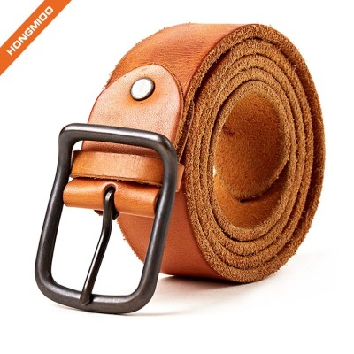 Western Cow Boy Top Grain Cowhide Leather Mens Belt For 1.5 Inch