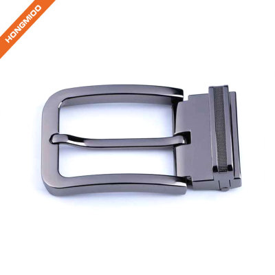 Customized Removable Zinc Alloy Shiny Black Metal Pin Clip Belt Buckle