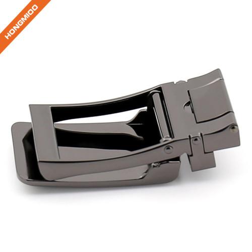 Men's Leather Cover Ratchet Belt Buckle