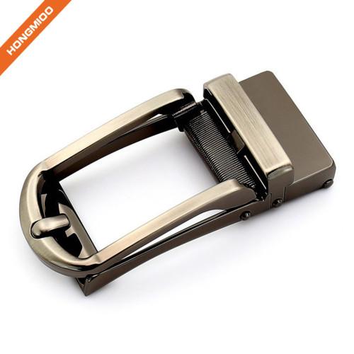 Brass Brush Spring Adjustable Ratchet Belt Buckle