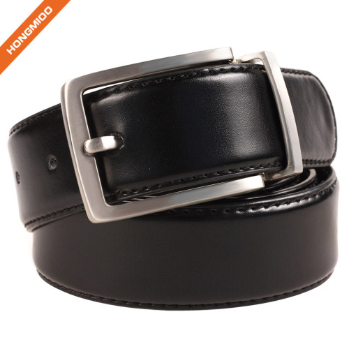 Classic Design New Single Prong Buckle 100% Real Leather Waist Strap