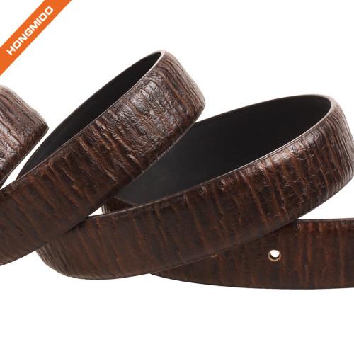 Hongmioo Men's Adjustable Dress Leather Belt With Single Prong Buckle Brown