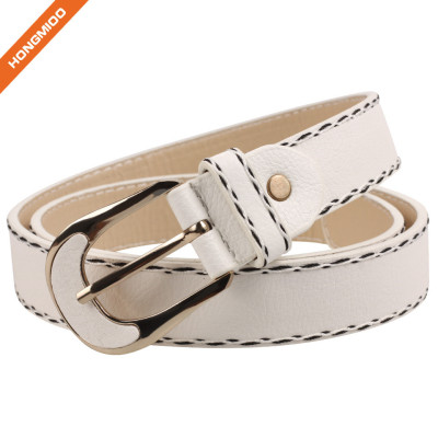 Hongmioo Men's Fashion Pu Leather Belt Waist Band Strap Pin Buckle Belts