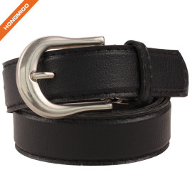 Men Nubuck Single Prong Buckle Belt 100% Real Leather Strap