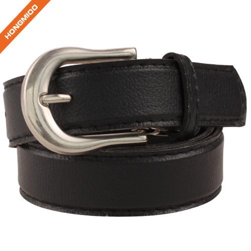 Men Nubuck Single Prong Buckle Belt 100% Real Leather Strap