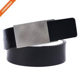 Retro Buckle Design Split Leather Belts with Nickel Free Detachable Buckle