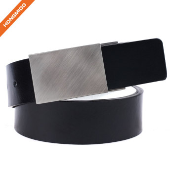 Retro Buckle Design Split Leather Belts with Nickel Free Detachable Buckle