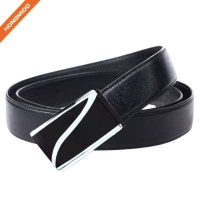 Hongmioo Heavy Duty Thick Split Leather Belt With Letter Z Plate Buckle