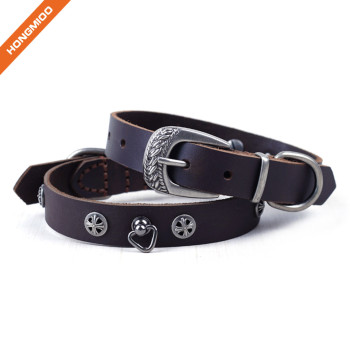 Luxury Rivet Pin Buckle Genuine Leather Belt with good Toughness