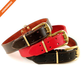 Luxury Stitched Double Prong Pin Buckle Belt