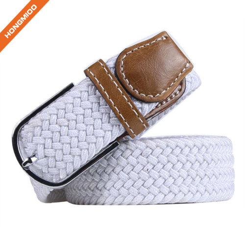 New Arrival Fashion White Color Ladies Polyester Belts