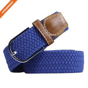 Wholesale Price Ladies Royal Blue Pin Buckle Polyester Belt