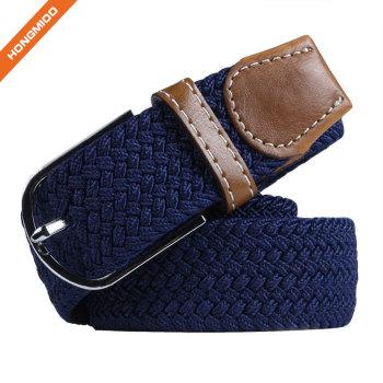 Custom Size Polyester Metarial Mens Elastic Braided Belt