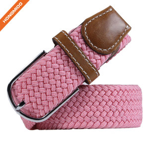 Hongmioo Pin Buckle Belts Elastic Braided Belts Nice Gifts