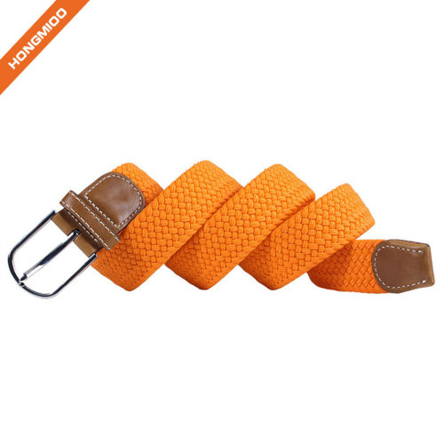 New Products Ladies Adjustable Braided Elastic Belt For Golf