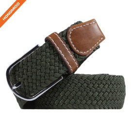 Factory Direct Sales Split Leather Army Green Elastic Belts For Male