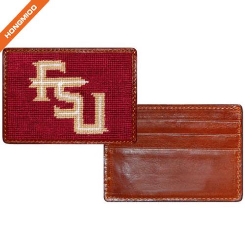 Hongmioo Slim Front Genuine Leather Pocket Wallet Different Letters Design