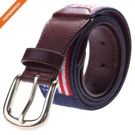 Classical Design American Flag Top Grain Leather Wide Adjustable Belts