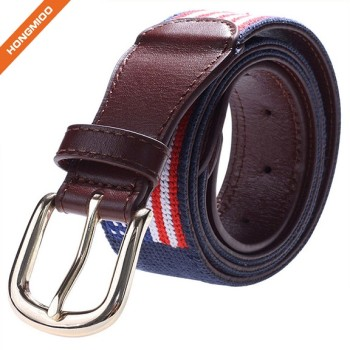 Classical Design American Flag Top Grain Leather Wide Adjustable Belts