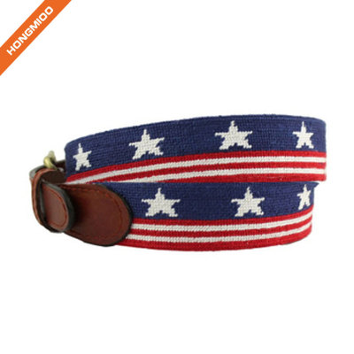 High Technical Design Embroidery Real Genuine Leather Mens Belts