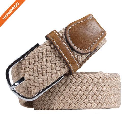 Custom Simple Fashion Ladies Elastic Pin Buckle Belt