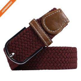 Fashion Custom Color Polyester Material Elastic Mens Belts
