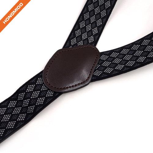 Handmade Print Pattern Mens Fabric Polyester Y-Back Suspenders