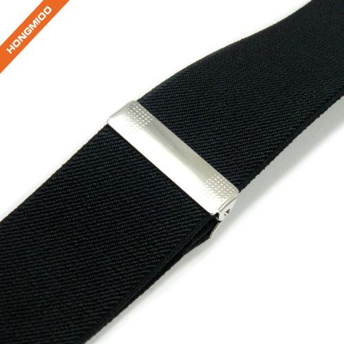 Mens X-Back Clip Adjustable Elastic Suspenders Daily Shirt Stays Holder