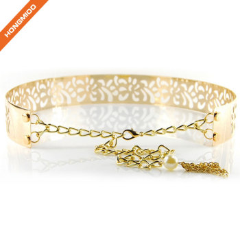 Hongmioo Modern Colorful Hollow Ladies Metal Chain Belt