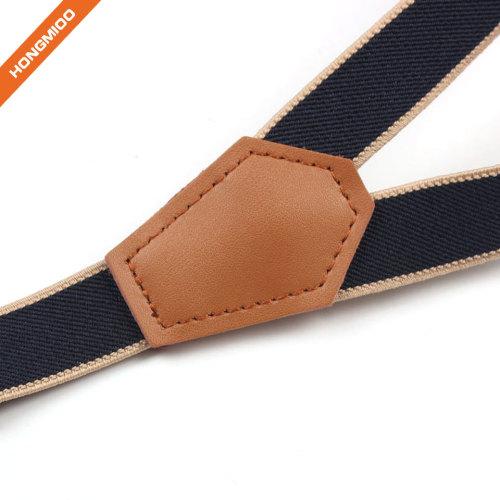 Durable Mens Adjustable Clips Polyester Suspender Blue Background Solid Shirt Stays