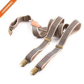 Retro Design Mens Adjustable Accessory Suspenders Belt 3 Clips PU Leather Shirt Garter