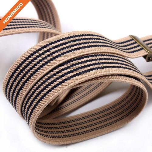 Retro Design Mens Adjustable Accessory Suspenders Belt 3 Clips PU Leather Shirt Garter